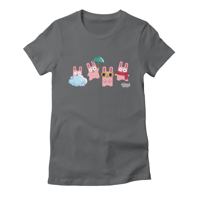 Forecast Bunnies Women's Fitted T-Shirt by The Sims Official Threadless Store