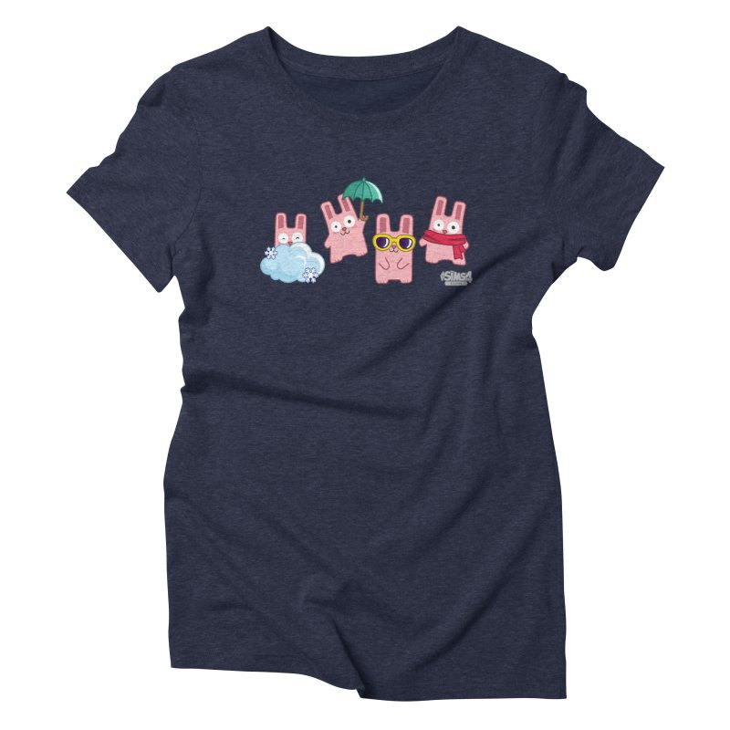Forecast Bunnies Women's Triblend T-Shirt by The Sims Official Threadless Store