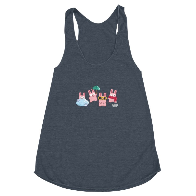 Forecast Bunnies Women's Racerback Triblend Tank by The Sims Official Threadless Store