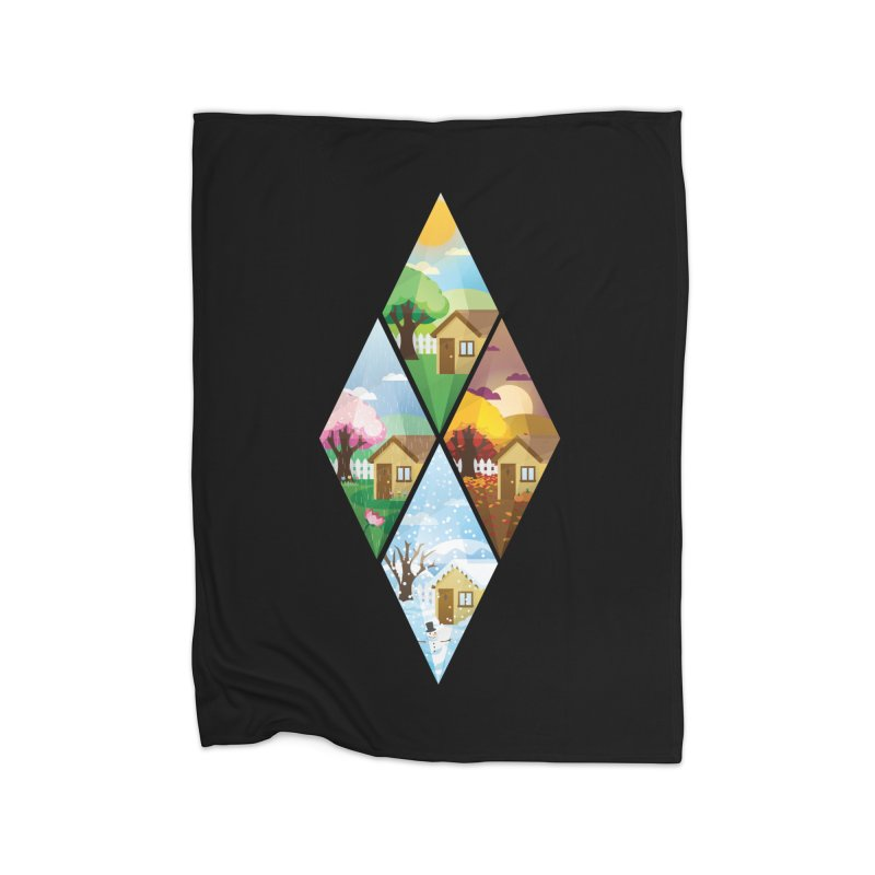 The Sims 4 Seasons - Seasonal-bob Home Fleece Blanket Blanket by The Sims Official Threadless Store