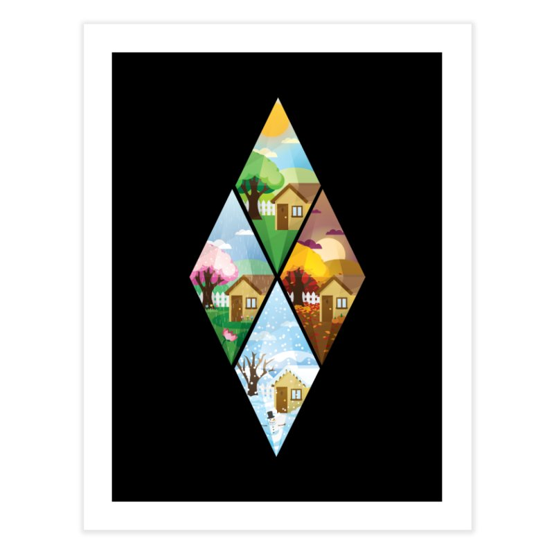 The Sims 4 Seasons - Seasonal-bob Home Fine Art Print by The Sims Official Threadless Store