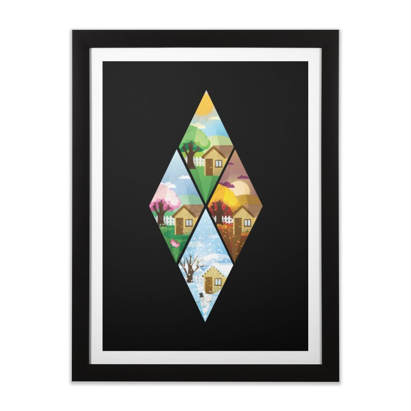 The Sims 4 Seasons - Seasonal-bob Home Framed Fine Art Print by The Sims Official Threadless Store