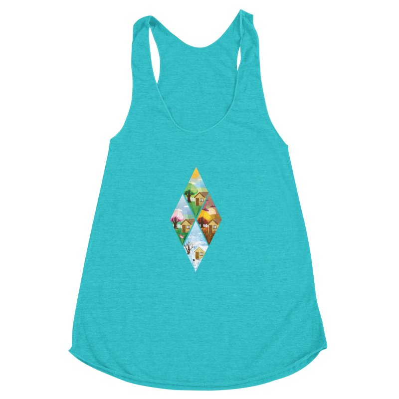 The Sims 4 Seasons - Seasonal-bob Women's Racerback Triblend Tank by The Sims Official Threadless Store