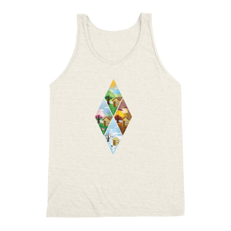 The Sims 4 Seasons - Seasonal-bob Men's Triblend Tank by The Sims Official Threadless Store