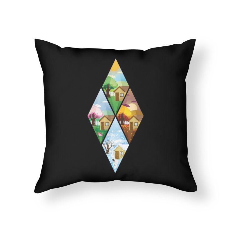 The Sims 4 Seasons - Seasonal-bob Home Throw Pillow by The Sims Official Threadless Store