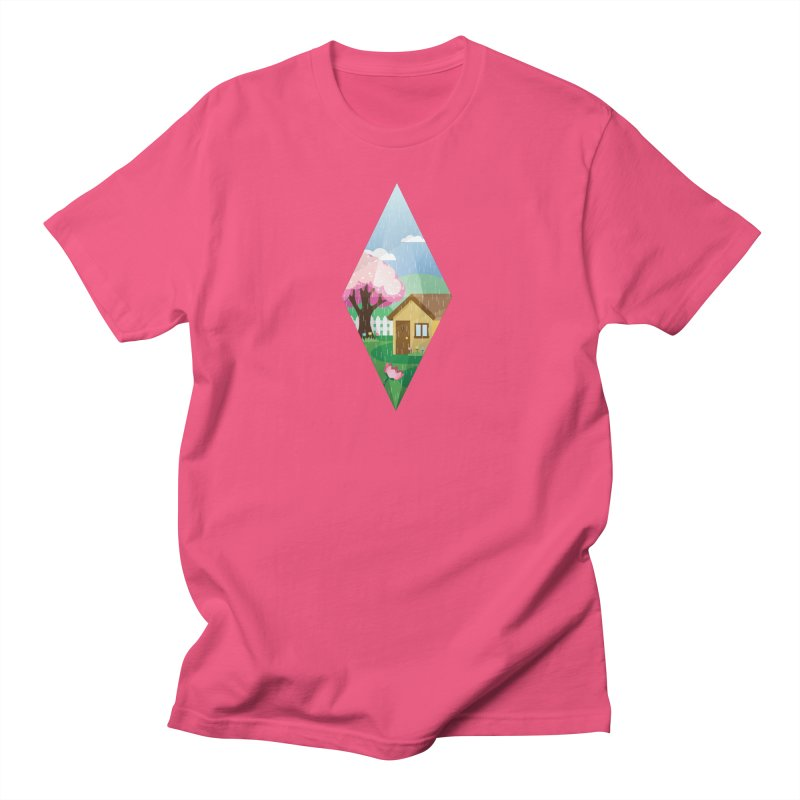 The Sims 4 Seasons - Spring-bob in Women's Regular Unisex T-Shirt Fuchsia by The Sims Official Threadless Store