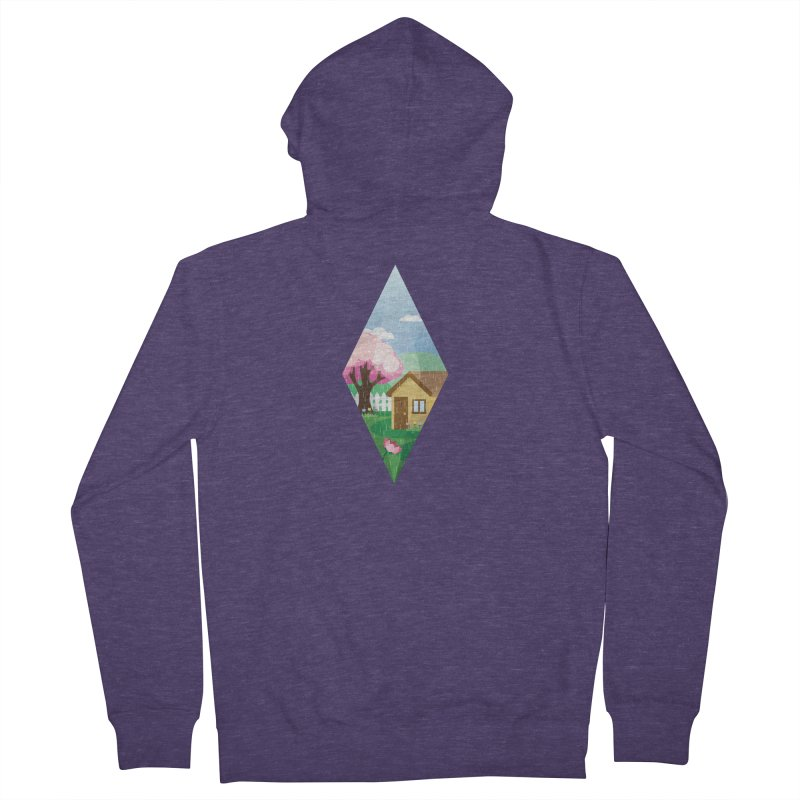 The Sims 4 Seasons - Spring-bob Men's French Terry Zip-Up Hoody by The Sims Official Threadless Store
