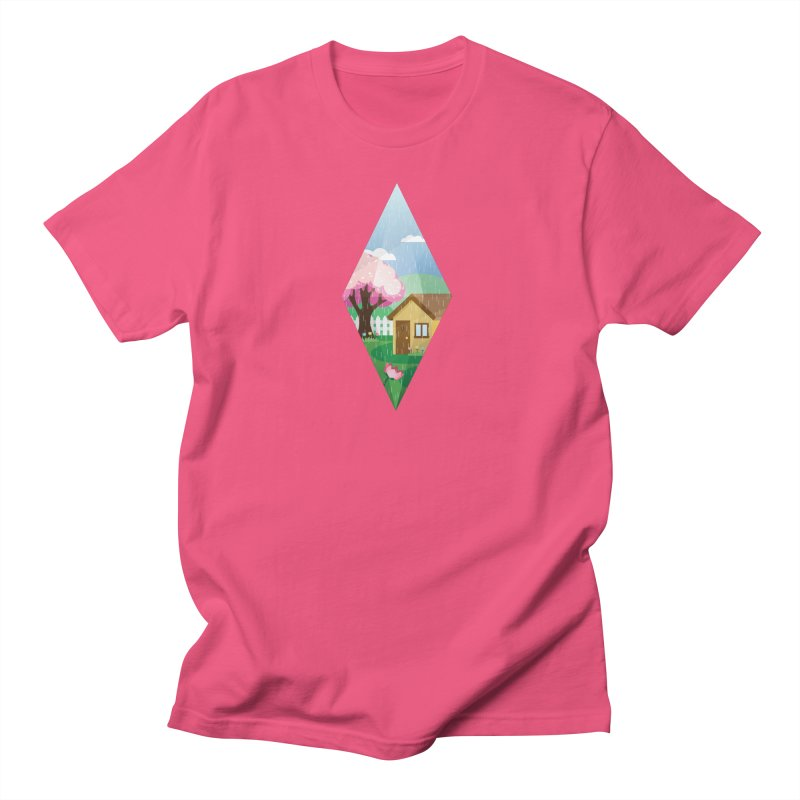 The Sims 4 Seasons - Spring-bob in Women's Unisex T-Shirt Fuchsia by The Sims Official Threadless Store
