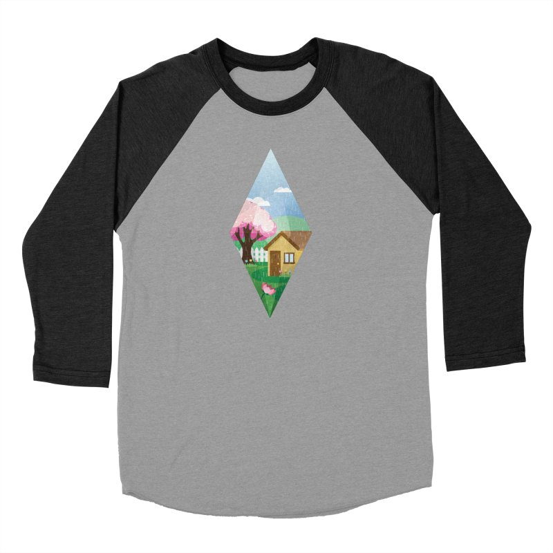 The Sims 4 Seasons - Spring-bob Men's Baseball Triblend Longsleeve T-Shirt by The Sims Official Threadless Store