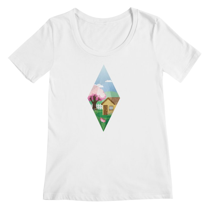The Sims 4 Seasons - Spring-bob Women's Scoopneck by The Sims Official Threadless Store