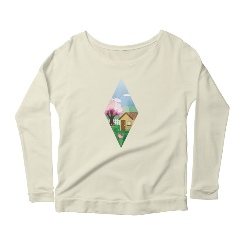 The Sims 4 Seasons - Spring-bob Women's Longsleeve Scoopneck  by The Sims Official Threadless Store