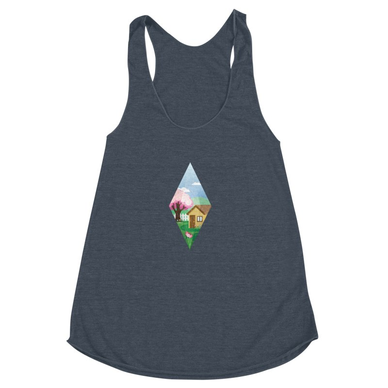 The Sims 4 Seasons - Spring-bob Women's Racerback Triblend Tank by The Sims Official Threadless Store