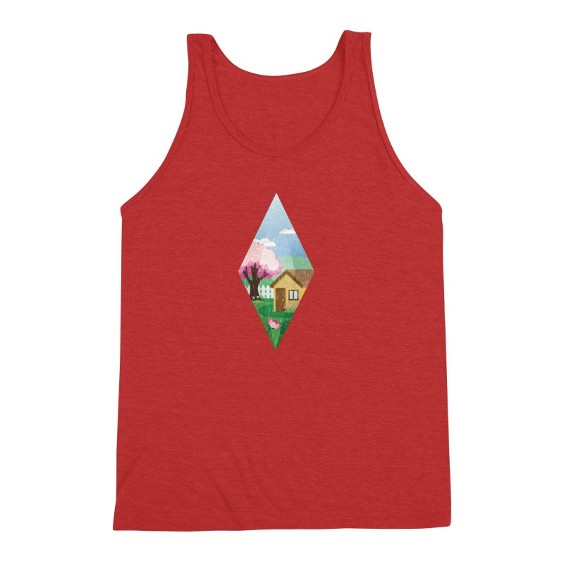 The Sims 4 Seasons - Spring-bob Men's Triblend Tank by The Sims Official Threadless Store