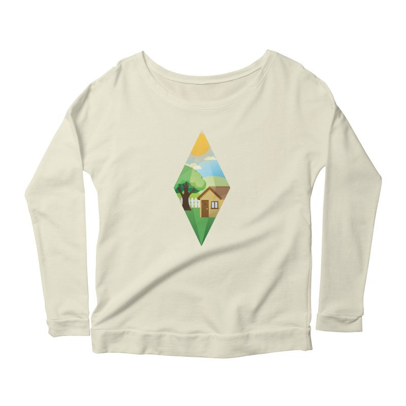 The Sims 4 Seasons - Summer-bob Women's Longsleeve Scoopneck  by The Sims Official Threadless Store