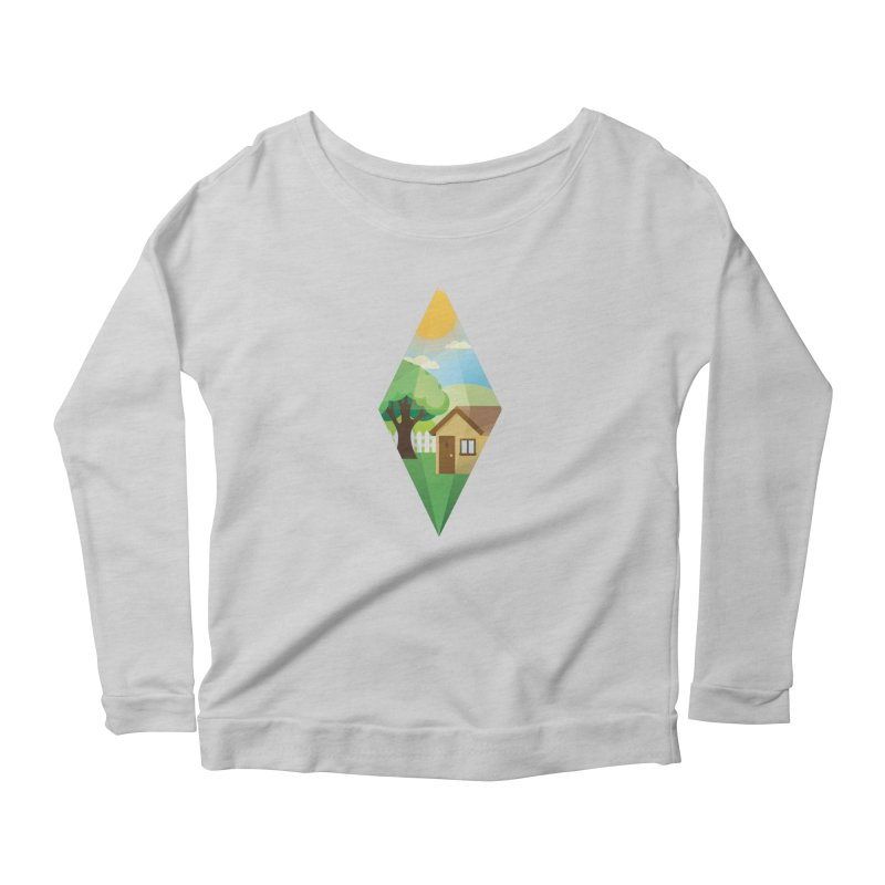 The Sims 4 Seasons - Summer-bob Women's Scoop Neck Longsleeve T-Shirt by The Sims Official Threadless Store