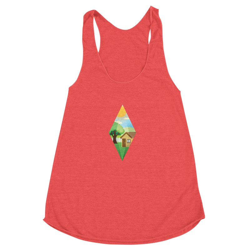 The Sims 4 Seasons - Summer-bob Women's Racerback Triblend Tank by The Sims Official Threadless Store