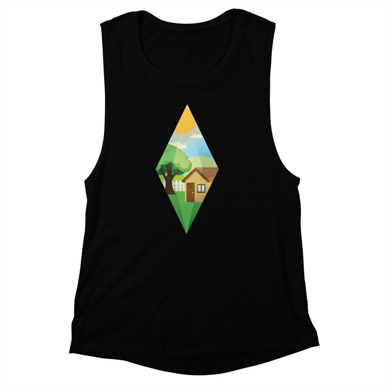The Sims 4 Seasons - Summer-bob Women's Muscle Tank by The Sims Official Threadless Store