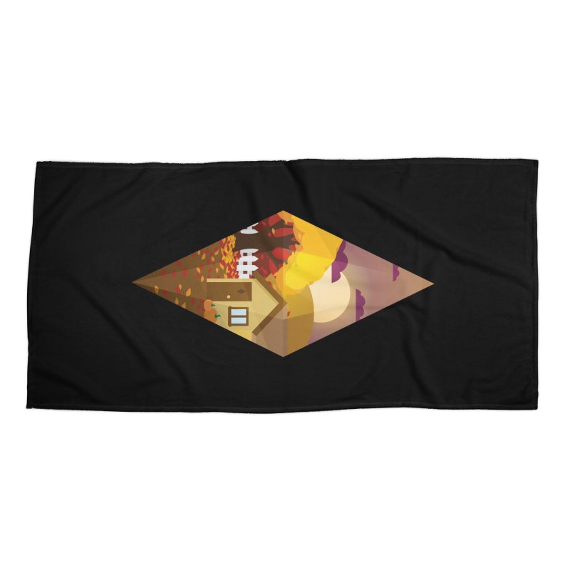 The Sims 4 Seasons - Fall-bob Accessories Beach Towel by The Sims Official Threadless Store