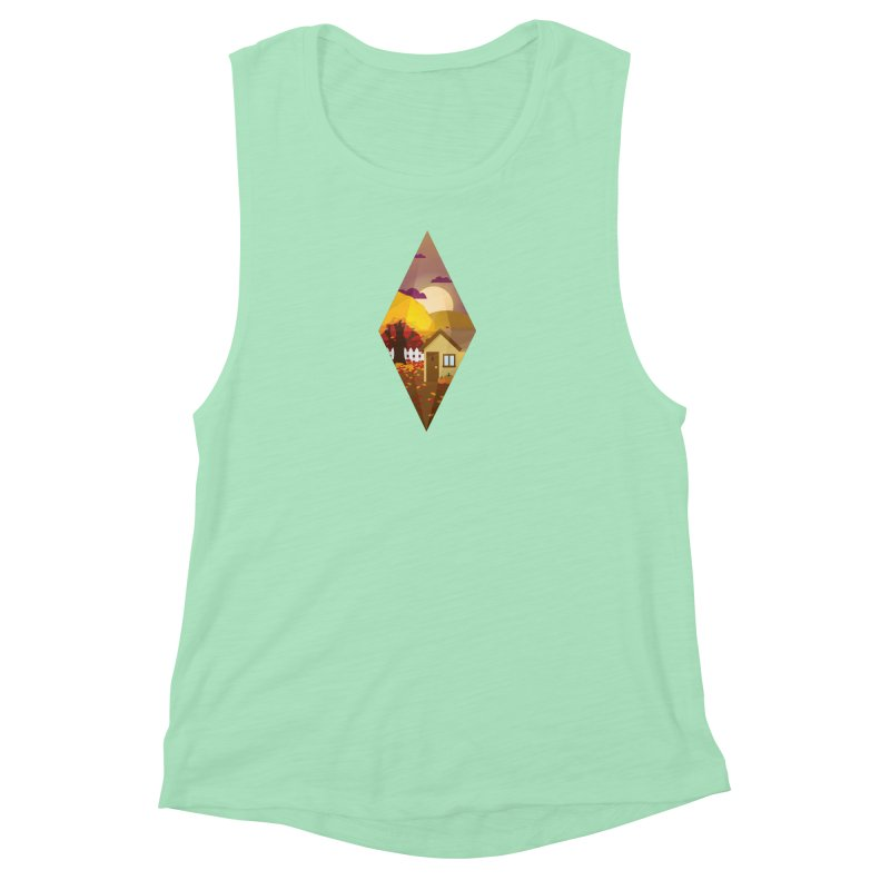 The Sims 4 Seasons - Fall-bob Women's Muscle Tank by The Sims Official Threadless Store