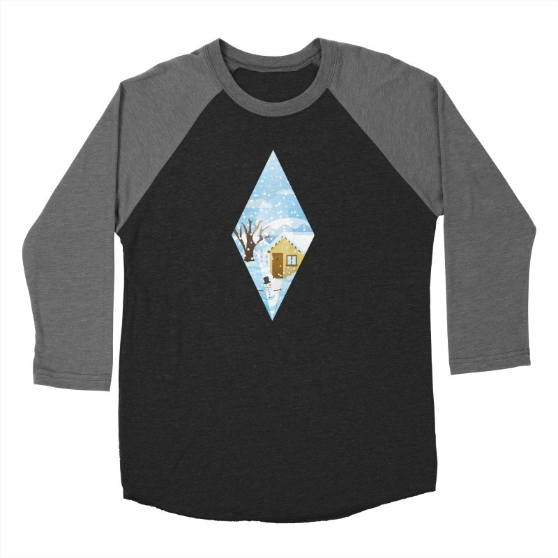 The Sims 4 Seasons - Winter-bob Men's Baseball Triblend Longsleeve T-Shirt by The Sims Official Threadless Store