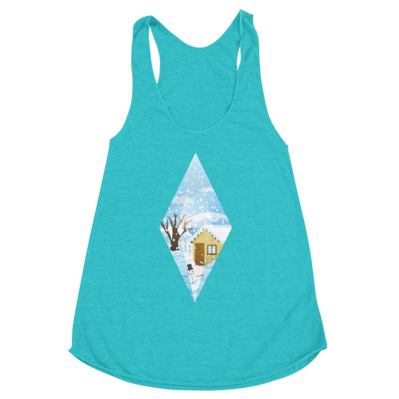 The Sims 4 Seasons - Winter-bob Women's Racerback Triblend Tank by The Sims Official Threadless Store