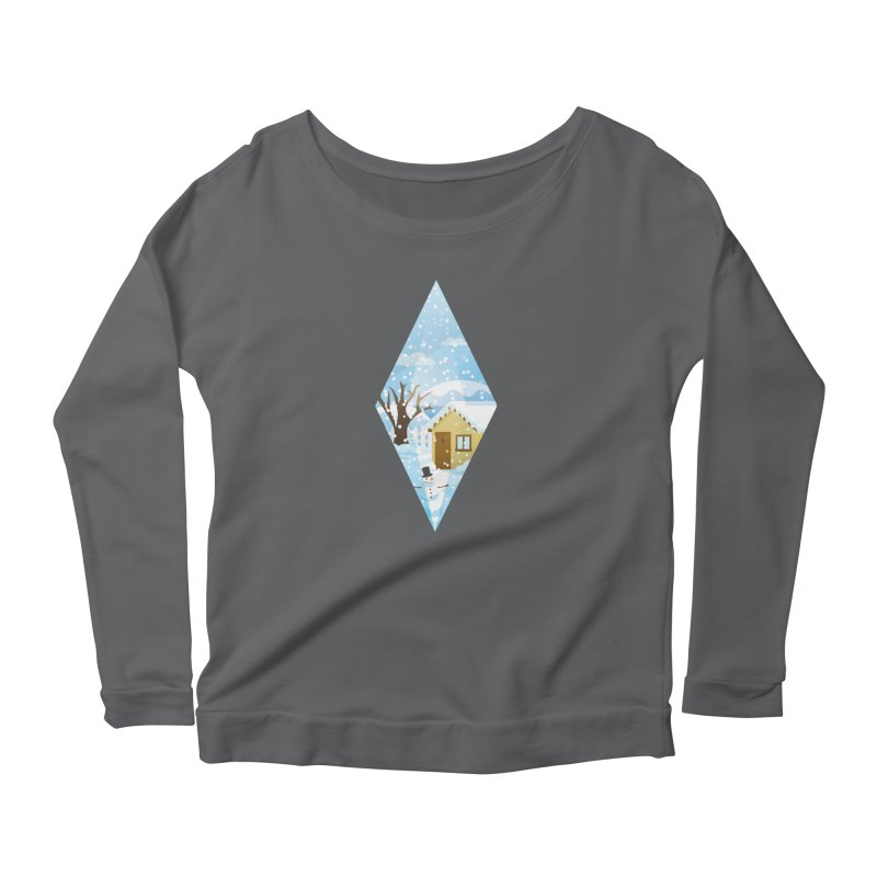 The Sims 4 Seasons - Winter-bob Women's Longsleeve Scoopneck  by The Sims Official Threadless Store