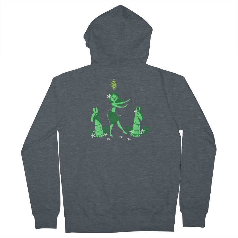 Sim-hula Green Women's French Terry Zip-Up Hoody by The Sims Official Threadless Store
