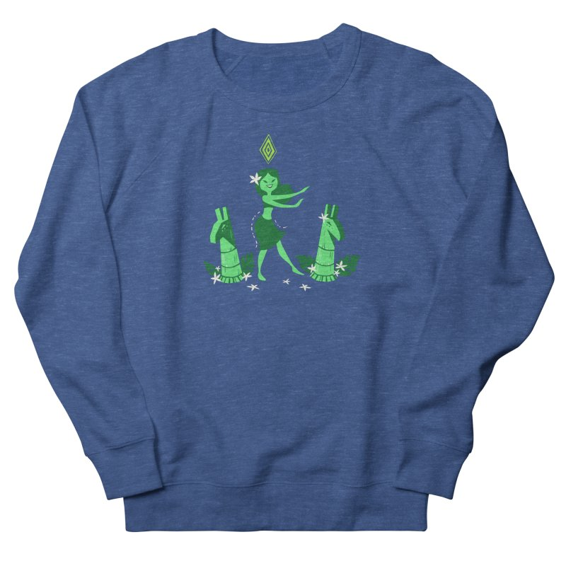 Sim-hula Green Men's French Terry Sweatshirt by The Sims Official Threadless Store