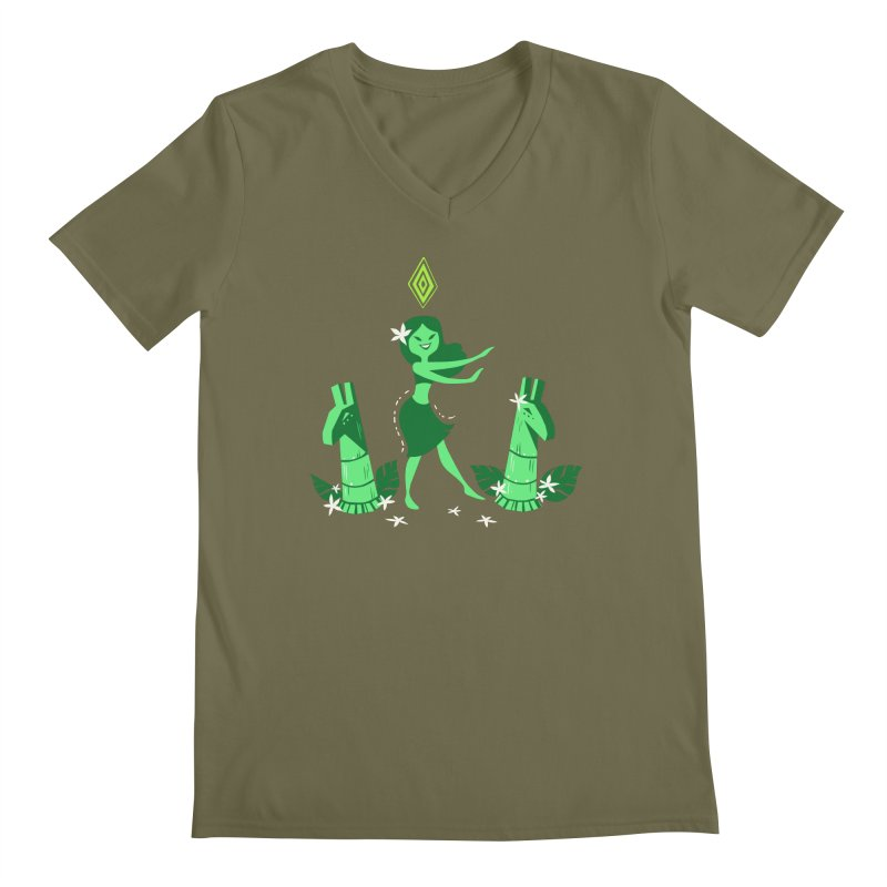 Sim-hula Green Men's Regular V-Neck by The Sims Official Threadless Store