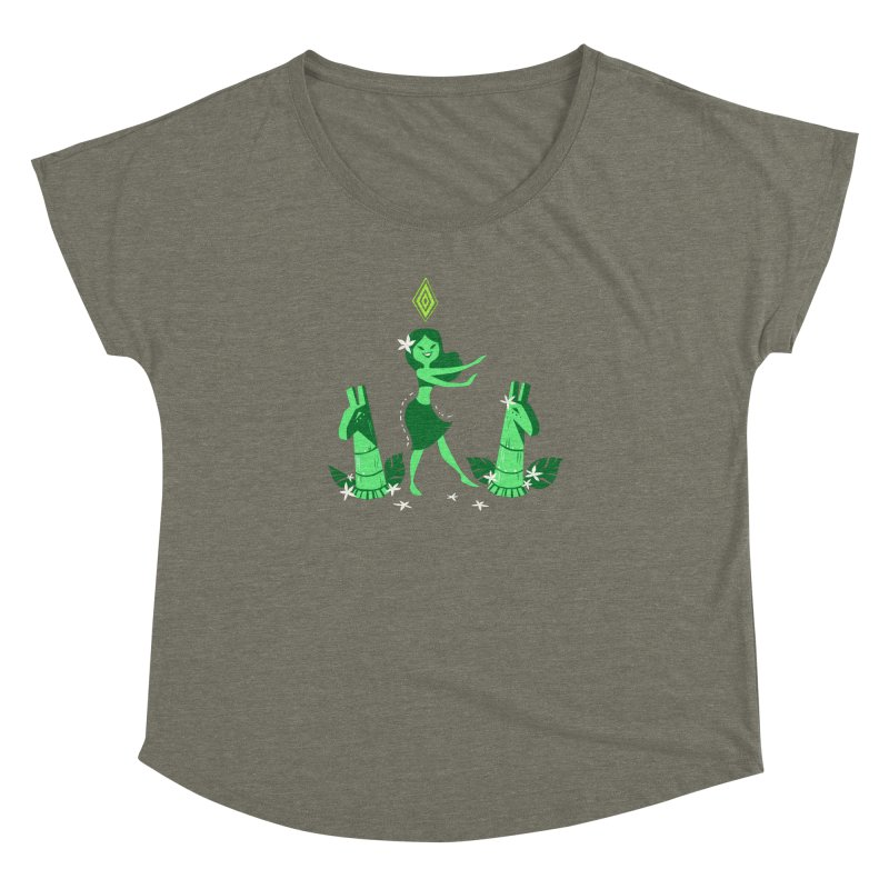 Sim-hula Green Women's Dolman by The Sims Official Threadless Store