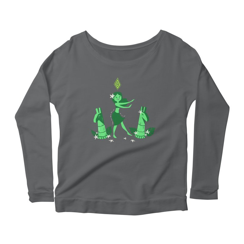 Sim-hula Green Women's Scoop Neck Longsleeve T-Shirt by The Sims Official Threadless Store