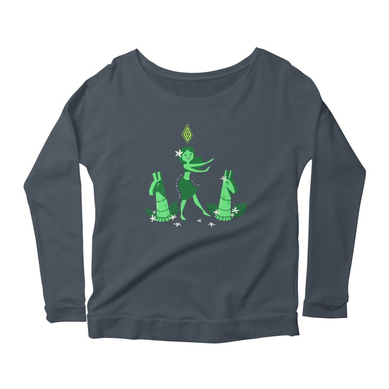 Sim-hula Green Women's Longsleeve Scoopneck  by The Sims Official Threadless Store