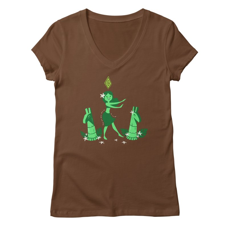 Sim-hula Green Women's Regular V-Neck by The Sims Official Threadless Store