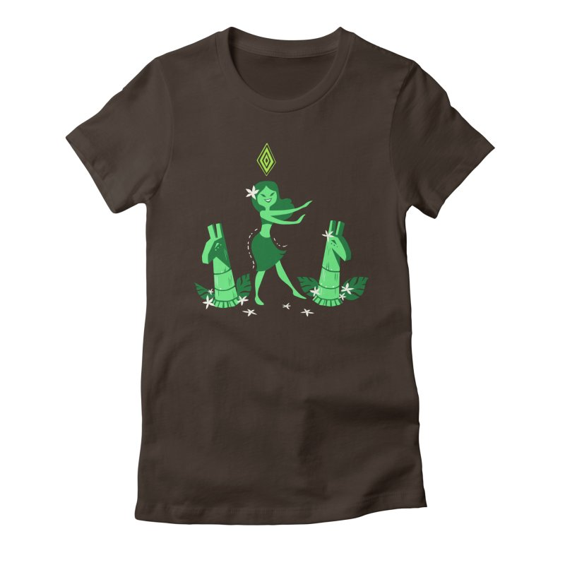 Sim-hula Green Women's Fitted T-Shirt by The Sims Official Threadless Store