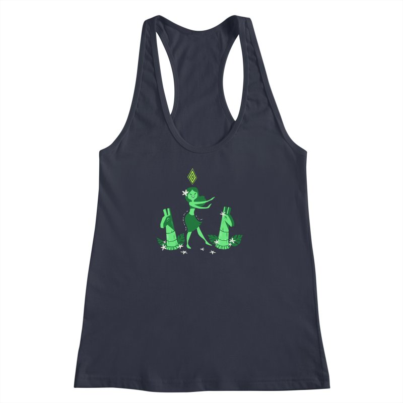 Sim-hula Green Women's Racerback Tank by The Sims Official Threadless Store