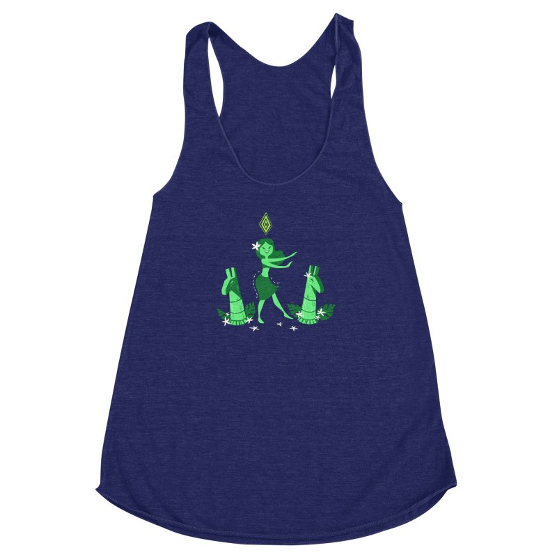 Sim-hula Green Women's Racerback Triblend Tank by The Sims Official Threadless Store