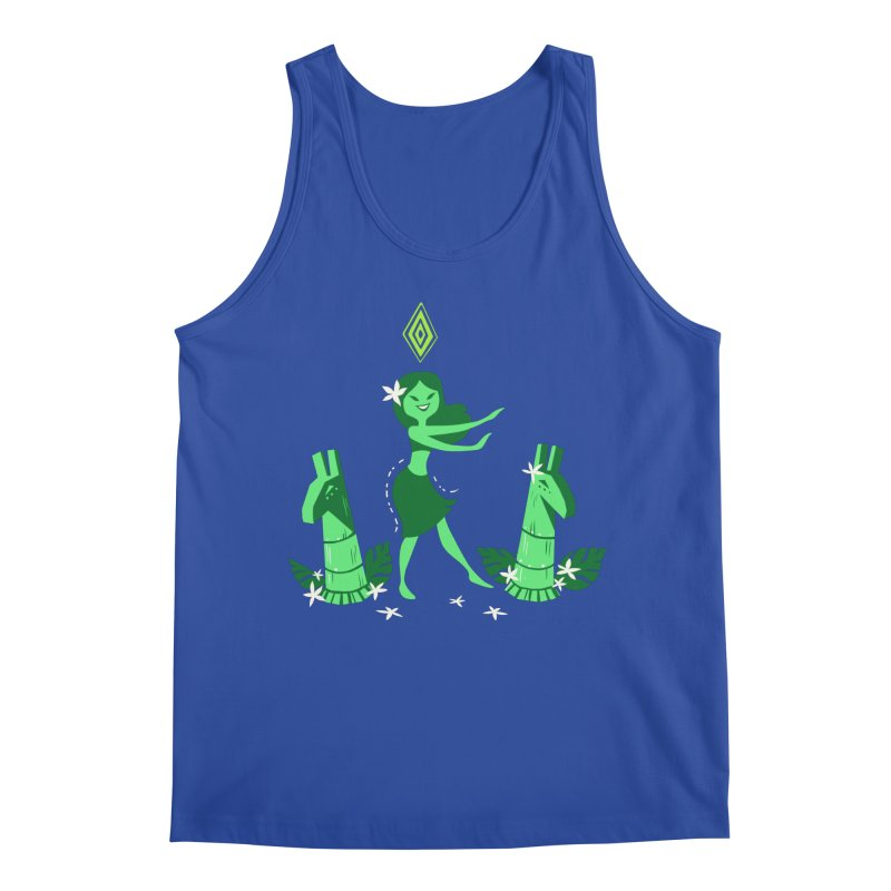 Sim-hula Green Men's Regular Tank by The Sims Official Threadless Store