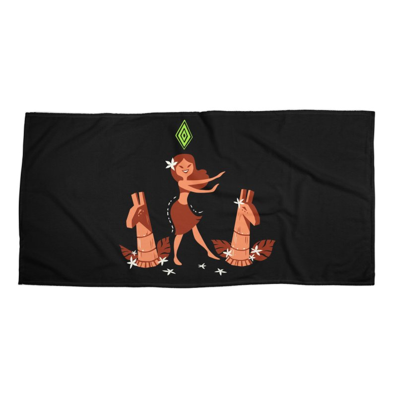 Sim-hula Orange Accessories Beach Towel by The Sims Official Threadless Store
