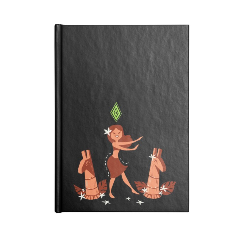 Sim-hula Orange Accessories Lined Journal Notebook by The Sims Official Threadless Store