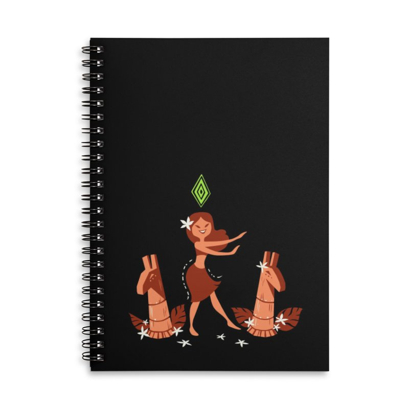 Sim-hula Orange Accessories Lined Spiral Notebook by The Sims Official Threadless Store