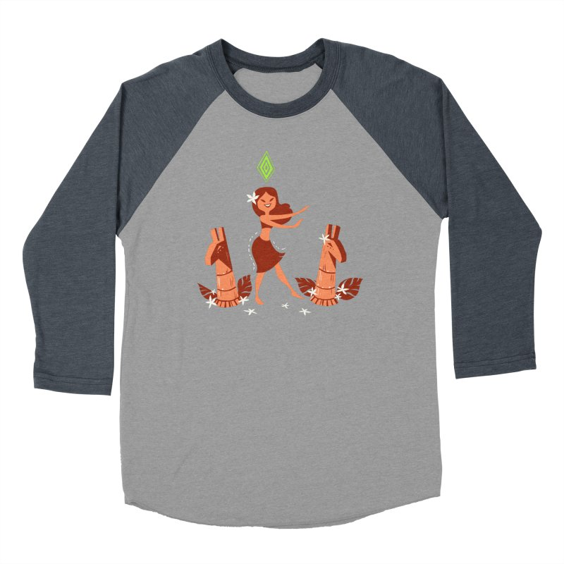 Sim-hula Orange Men's Baseball Triblend Longsleeve T-Shirt by The Sims Official Threadless Store