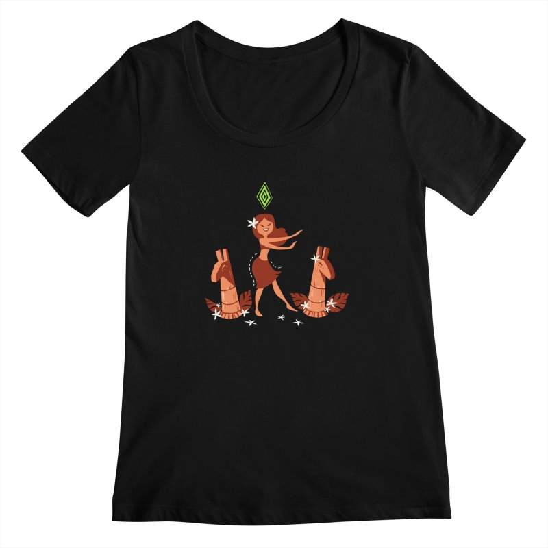 Sim-hula Orange Women's Scoopneck by The Sims Official Threadless Store