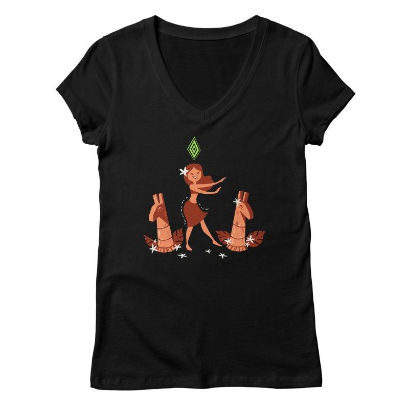 Sim-hula Orange Women's Regular V-Neck by The Sims Official Threadless Store
