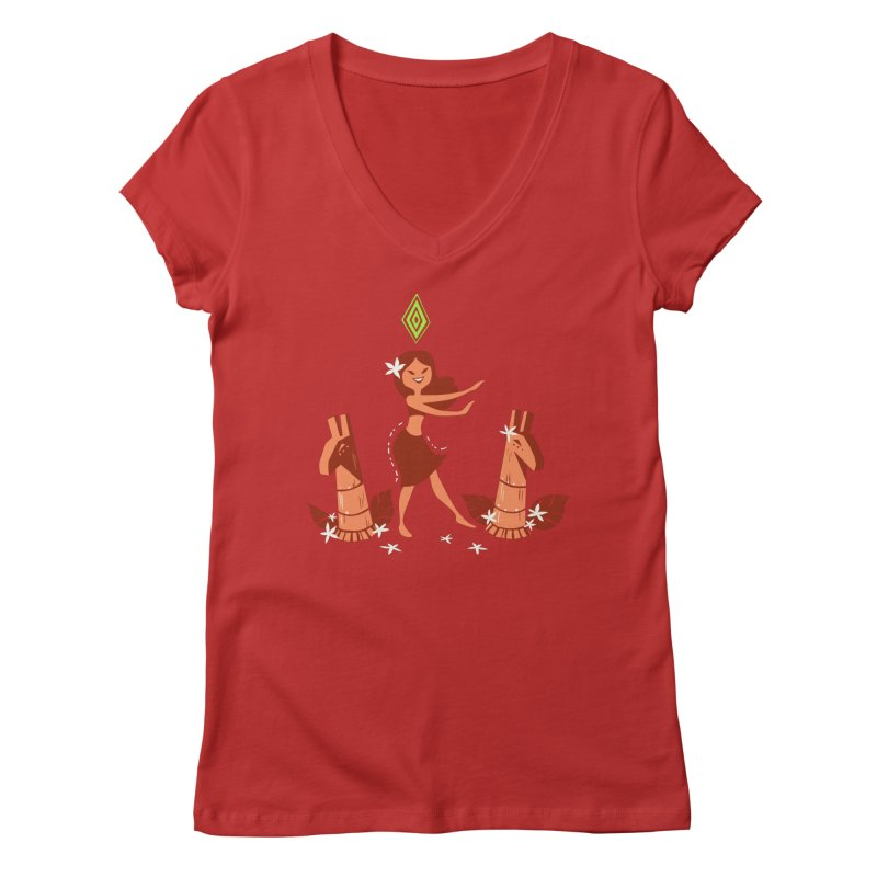 Sim-hula Orange Women's Regular V-Neck by The Sims Official Threadless Store