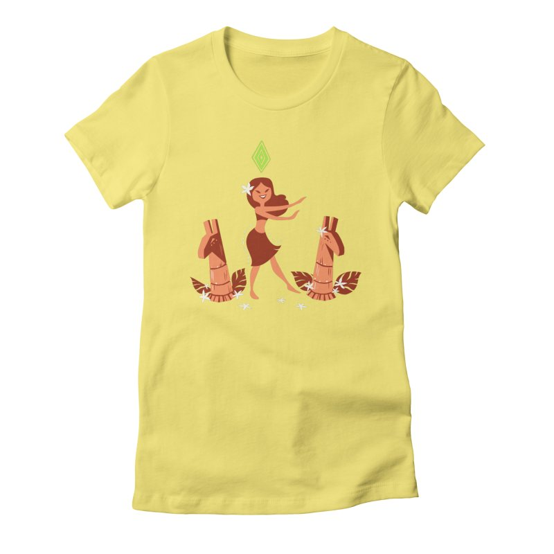 Sim-hula Orange Women's Fitted T-Shirt by The Sims Official Threadless Store