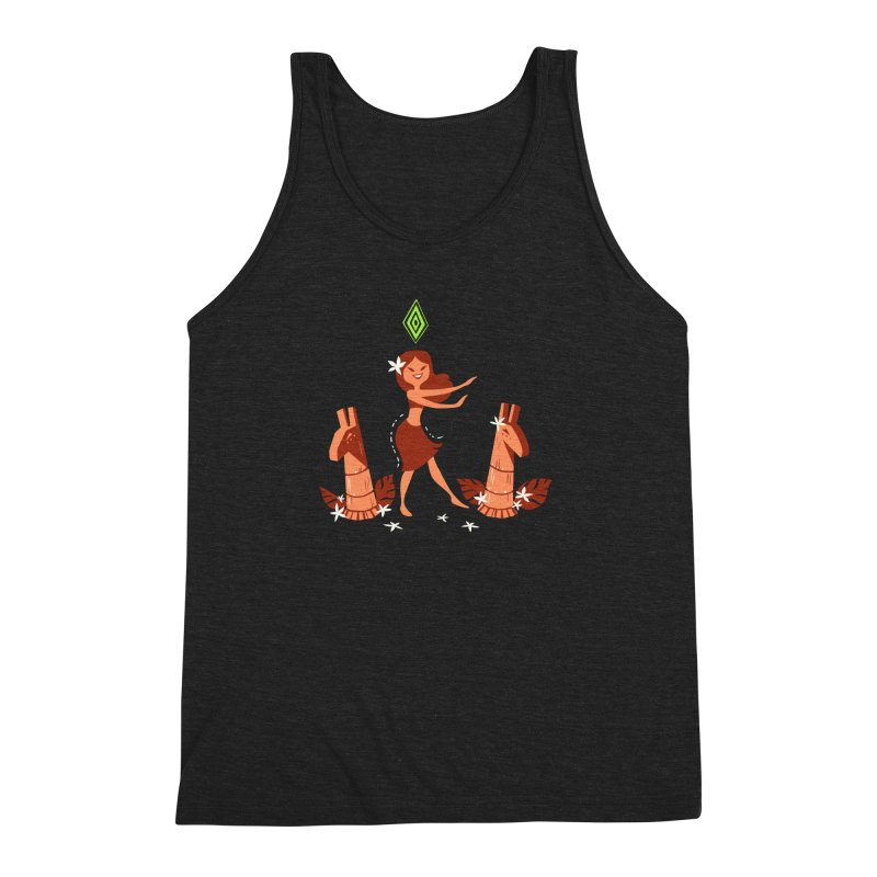 Sim-hula Orange Men's Triblend Tank by The Sims Official Threadless Store