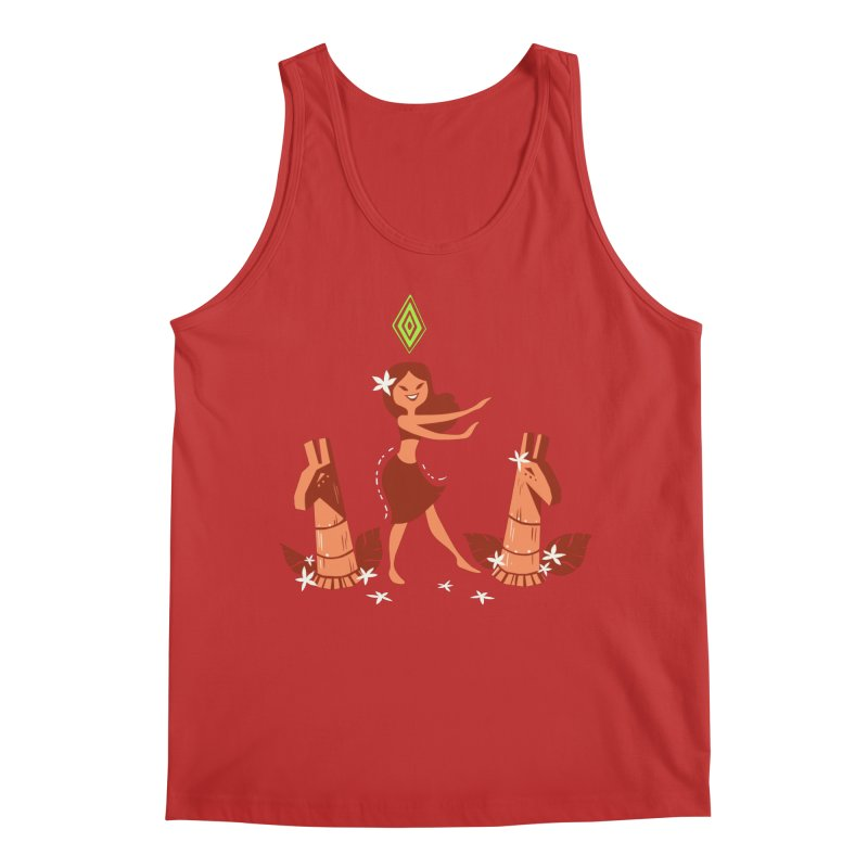 Sim-hula Orange Men's Regular Tank by The Sims Official Threadless Store