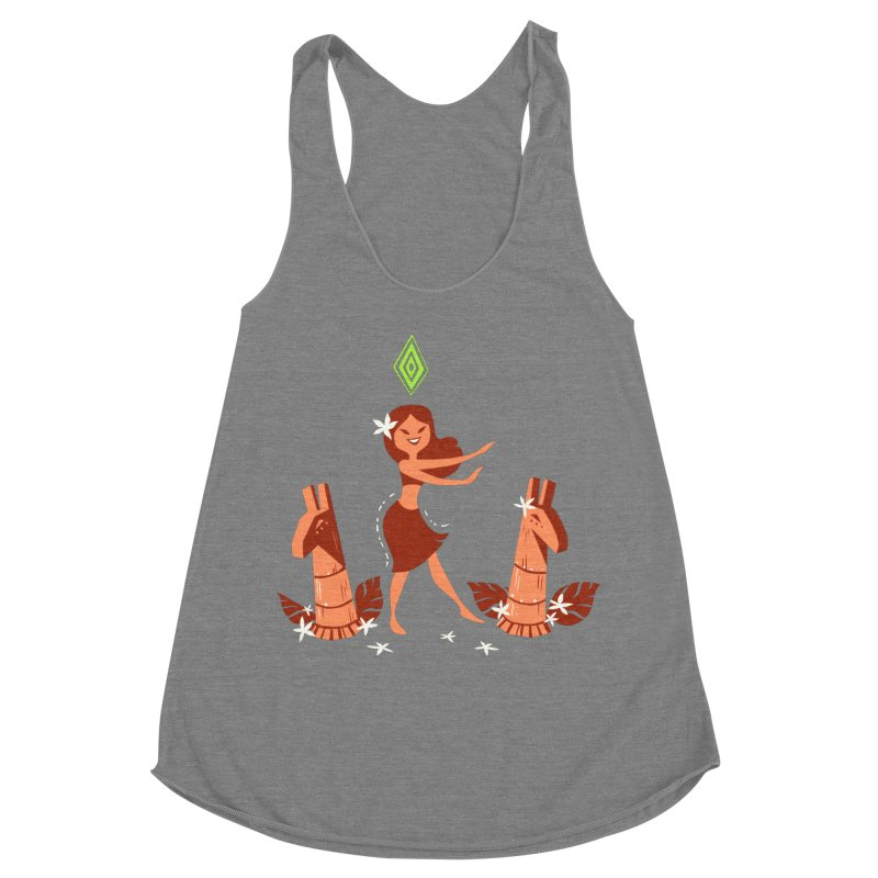 Sim-hula Orange Women's Racerback Triblend Tank by The Sims Official Threadless Store