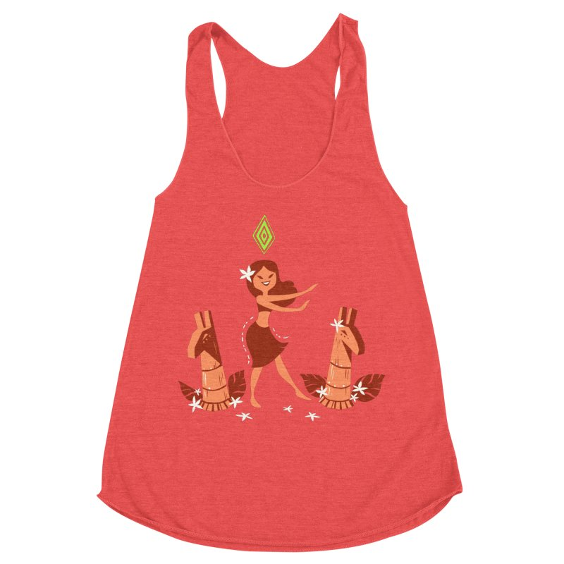 Sim-hula Orange Women's Tank by The Sims Official Threadless Store