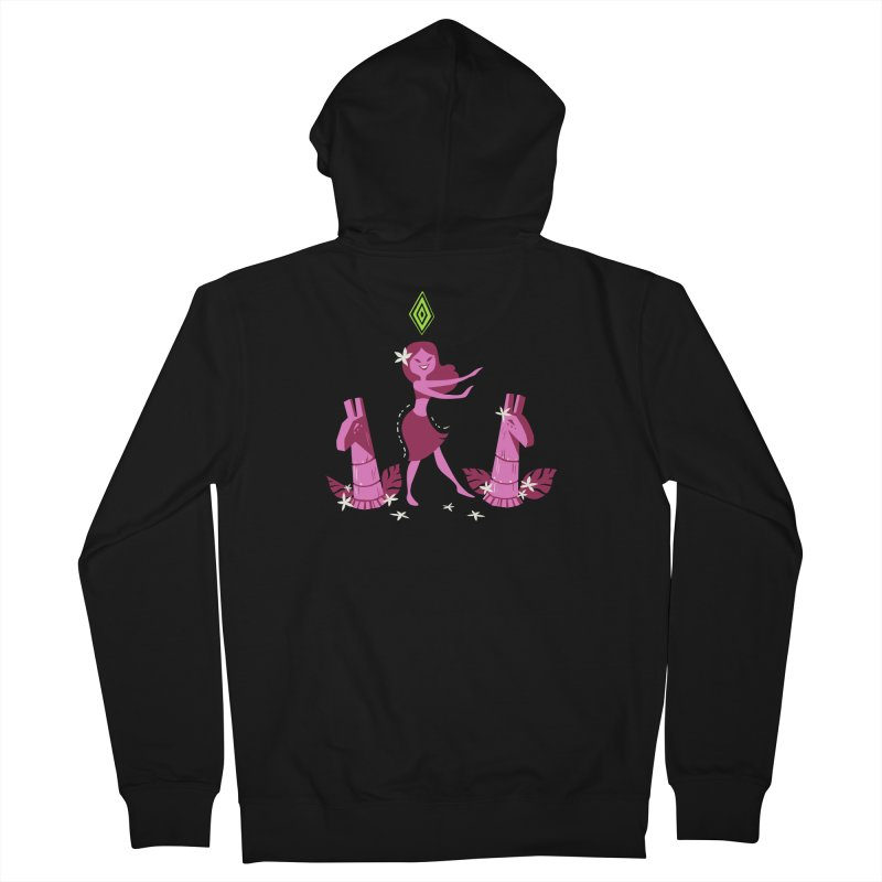 Sim-hula Pink Men's French Terry Zip-Up Hoody by The Sims Official Threadless Store
